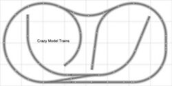 Train Layout 008 Bachmann Ho Ez Track Nickel Silver - 4and039 X 8and039 - Train Set