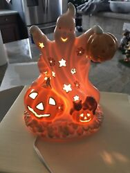Lenox Occasions Halloween Ghost Lighted Figurine -retired - Used In Box