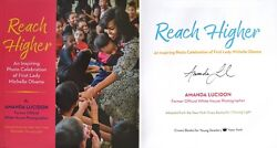 Amanda Lucidonsigned In Personreach Higher Michelle Obama1st/1st + Photos