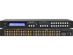 Shinybow 8804LCM: 8x8 Composite VideoDigital AudioAnalog Audio 8 zone switcher