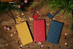 For Iphone 12 Pro Max /urbanwest Mesh Pattern Leather Handmade Cell Phone Case