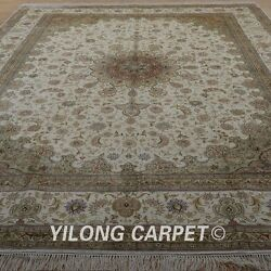 YILONG 9'x12' Large Size Handknotted Silk Carpet Fine Quality Area Rug 1913
