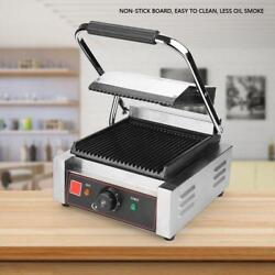 220-240V Black Indoor Electric Contact Grill Countertop Griddle Commercial Grill