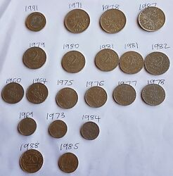 French Francs Coin Collector Various Yrs Between1960-1991various Coinsfreepost
