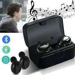 In Ear Bluetooth Headset Twins Stereo Earbuds w Mic for Samsung Galaxy S9 S8 LG