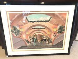 Mezzanine Limited Edition 3/300 - Michael Young - Double Matted Litho Signed Art