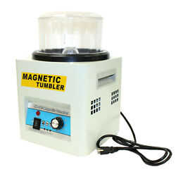 New Magnetic Tumbler Jewelry Polisher Machine Finisher 180mm Kt185 Time Control