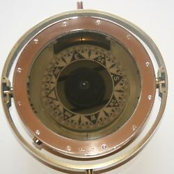 9.8 Rare Marine Antique Ships Compass J. Smith And Son Marked Brass Maritime