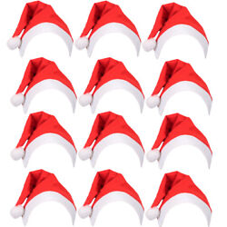Budget Santa Claus Hat Father Christmas Xmas Family Office Party Fancy Dress Lot
