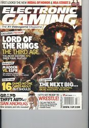 Electronic Gaming Monthly Egm September 2004 - 182 Lord Of The Rings V 17 I 9