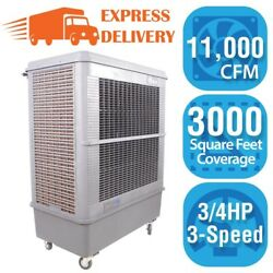 Hessaire Evaporative Swamp Cooler 11000 CFM 3-Speed 3000 sq. ft.Cooling Area