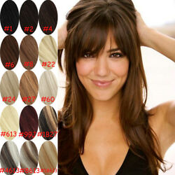 15inch 70g full head clip In 100% remy real  human hair extensions   7pcsSet