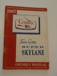 1967 Cessna 182 Super Skylane Owners Manual Turbo System With Checklist And More