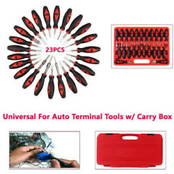 23PCS Car Terminal Removal Tool Wiring Connector Extractor Crimp Release Pin Set