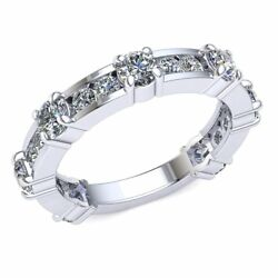 2.10ct Round Diamond Ladies Designer Stackable Eternity With Sizing Bar 14k Gold