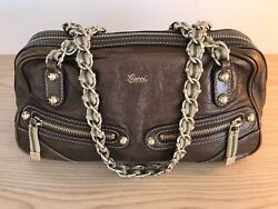 Gucci Designer Bronze Metallic Bag Shoulder Chains Excellent Condition