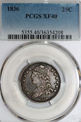 One 1836 Capped Bust Quarter That Pcgs Graded Xf40 Stock 36354208