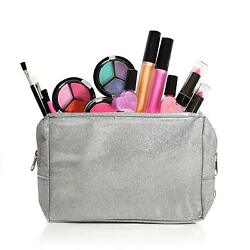 Washable Kids Makeup Set for Girls and Teens with Glitter Cosmetics Bag