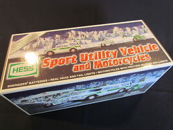 Hess Holiday Toy Truck 2004, Sport Utility Vehicle With 2 Motorcycles,new In Box