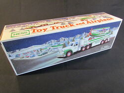 Hess Holiday Toy Truck 2002, Toy Truck And Airplane, Motorized, New In Box