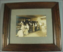 VINTAGE CABINET PHOTO TELEPHONE OPERATORS & SWITCHBOARD BATH MAINE FRAMED
