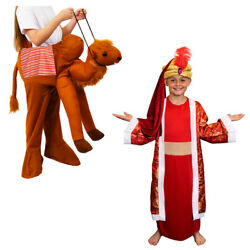 Child Camel Pick Me Up Costume Red King Wise Man Nativity Christmas Fancy Dress