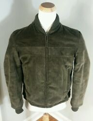 Vintage 50s 60s Sir Jac Clicker Style Corduroy Green Coat Jacket Small Sherpa