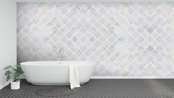 3D White Border Stone 492 Texture Tiles Marble Wall Paper Decal Wallpaper Mural