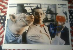 Pee Wee Herman And Pig Hand Signed Autographed Photo Lifetime Coa.
