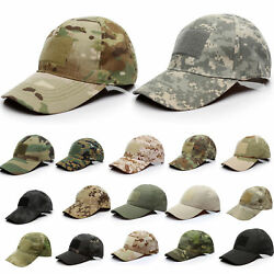 Men Tactical Operator Camo Baseball Hat Military Army Special Forces Airsoft Cap