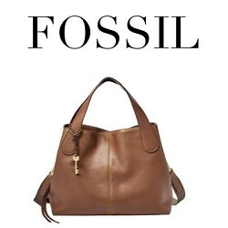 FOSSIL Maya Satchel Brown Bag Purse ZB7566200 Crossbody Saddle Brown NEW