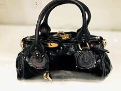 Chloé PaddingtonHandbag Black Authentic Women's Luxury Designer Fashion Bag   $975.00