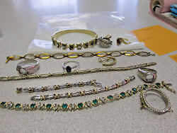 Scrap Lot Diamonds 14k and 10k Gold & Plat.  for Parts or Repairs  Make Offer
