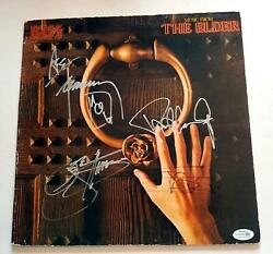 KISS Autographed X4 Signed Record Album LP ACOA