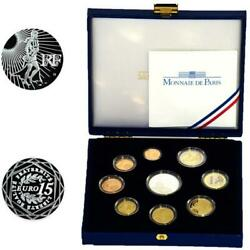 France Kms 2008 Pf 1 Cent - 2 Euro Commemorative Coin Case Certificate Proof