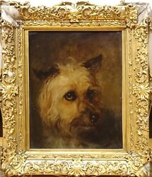 19th Century English School Yorkshire Terrier Dog Portrait Edwin Henry Landseer