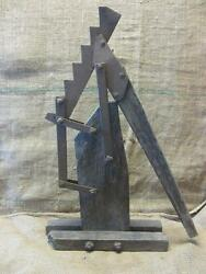 Vintage 1800s Iron And Wood Wagon Jack Antique Horse Western Gear Rare 9585