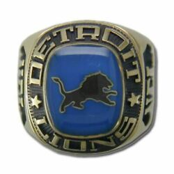 Detroit Lions Classic Goldplated Nfl Ring