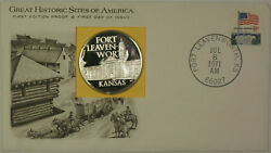 1971 Kansas Great Historic Site Medal Proof Silver First Day Cover