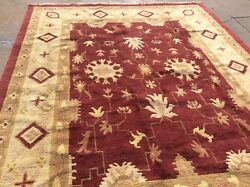 Vintage Modern Nepalese Oriental Rug Made In Nepal Handknotted 11andrsquo 9andrdquo X 8andrsquo 9andrdquo