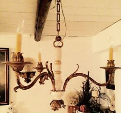Vintage Three Light Chandelier From South Of France