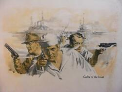 Colts To The Front Vintage Wwi Colt Firearms Poster W/ Original Mailing Tube