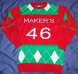 Makerand039s Mark Whisky - Ugly Christmas Sweater - Menand039s Xxl - Huge....new