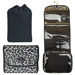 Hanging Toiletry Bag - TSA Approved Travel Kit for Women - Flat Makeup Case - Co