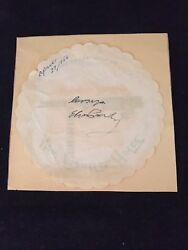 1956 Elvis Presley Autograph On Frontier Hotel And Casino Paper Coaster