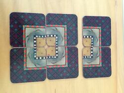 Rare 6 Mackenzie Childs Pimpernel Coasters Made In England
