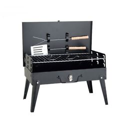 Bbq Grill Camping Stove Outdoor Cooker Portable Barbecue Charcoal Oven Wood Rack