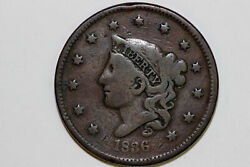 Fine 1836 Liberty Coronet Or Matron Modified Young Head Large Cent Coin Lrg659
