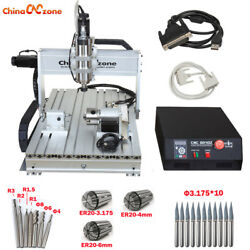 2200w Cnc 6040 Router 4 Axis Mach3 Usb Engraver Engraving Machine And Ball Screw