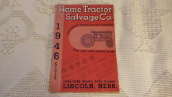 1946 Acme Tractor Salvage Co Catalog Lincoln, Neb. Tractor Parts